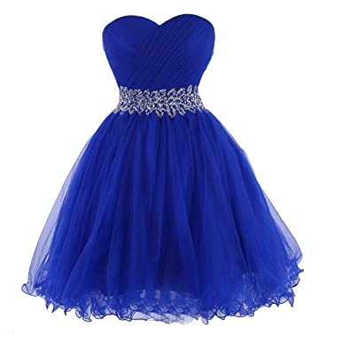 Ondine8 Womens Sweetheart Tulle Cocktail Dress Homecoming Dress (2, Royal blue)