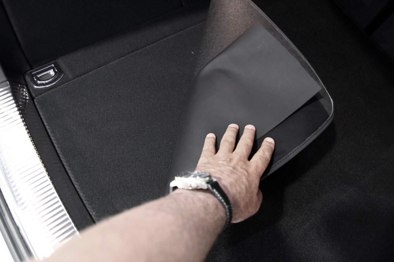 tuning-art 2922 Auto Kofferraummatte mit Ladekantenschutz 2-teilig