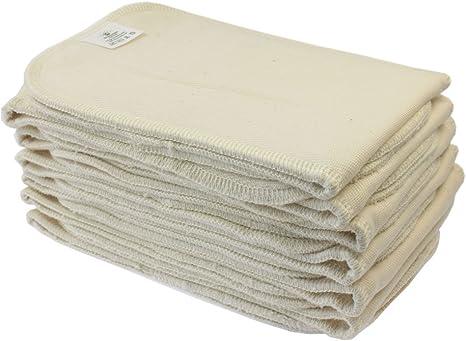 Blümchen - Pañal de tela, 12 unidades, absorbente, algodón orgánico: Amazon.es: Bebé