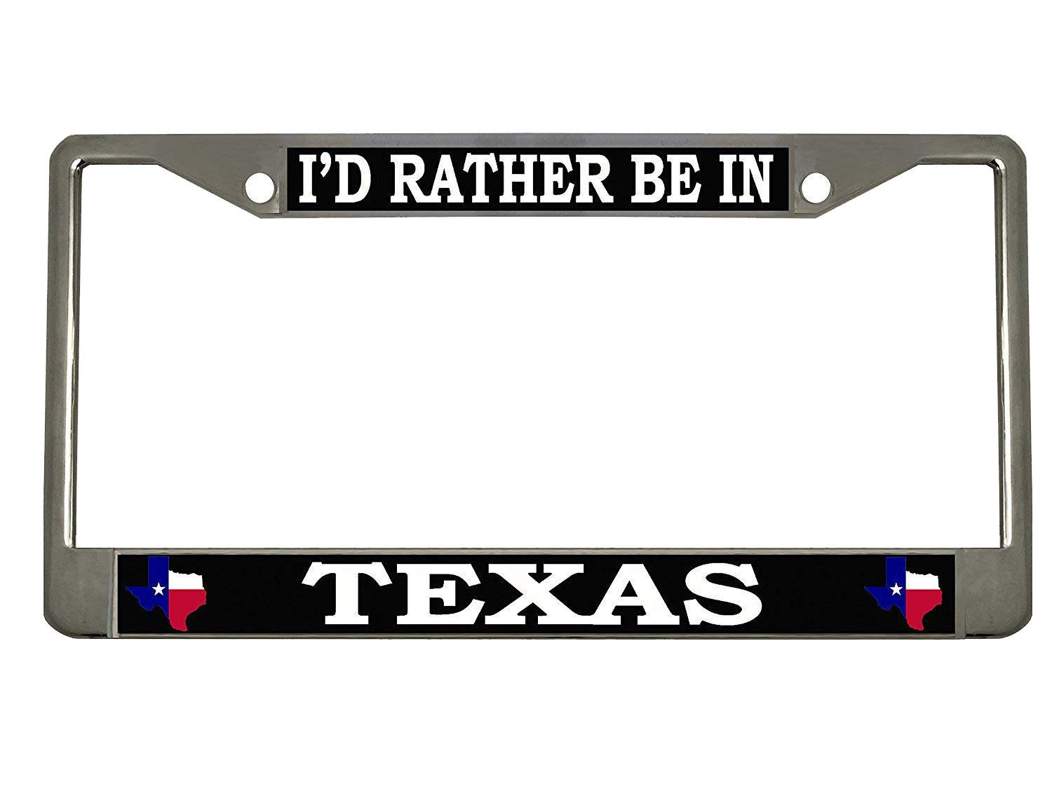 Id Rather be in Texas Heavy Duty Stainless Steel Chrome License Plate Frame Car Tag Holder /… STHANCAT OF TAMPA