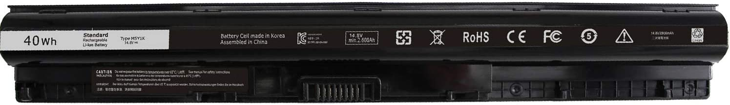 LNOCCIY M5Y1K Laptop Battery for Dell Inspiron 3451 3452 3458 3551 3558 5451 5458 5551 5555 5558 5755 5758 Vostro 3458 3558 Fits P/N: GXVJ3 HD4J0 K185W WKRJ2 VN3N0 453-BBBR-4 Cells 14.8V 2600mAh/40Wh