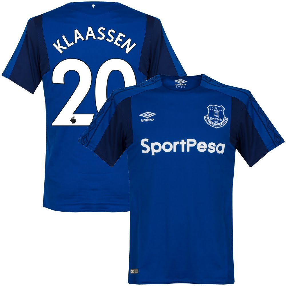 Everton Home Trikot 2017 2018 + Klaassen 20