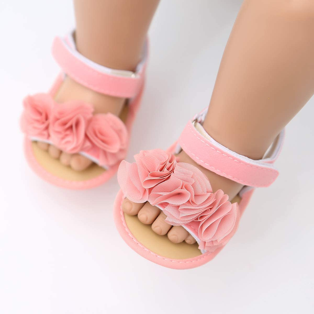 Baby Girls Summer Sandals Non-Slip Soft Sole Infant Slippers Floral Princess Dress Toddler First Walkers Shoes