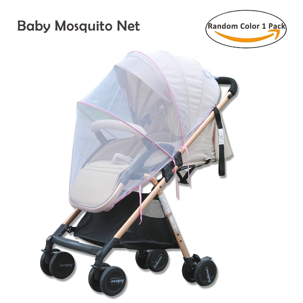Baby Mosquito Net for Strollers,Cradles,Car Seats,Carriers, Full Cover Universal Insect Mesh Netting Shield Canopy Fits Most Cribs,Bassinets,Playpens by Shellvcase