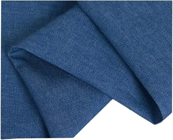 デニム生地ウォッシャブル厚さ150cmワイドデニムジャケットシューズエプロンコットン生地 (Color : Blue)