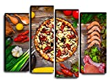 Hotel Arizona HD Kitchen Dining Room Pizza Spicy Meat Vegetables Wall Art Decor Picture Gift/Restaurant Sea Food Delicious Meal Canvas Painting Print Poster 32 by 44 inches