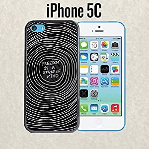iPhone Case Freedom Is a State of Mind for iPhone 5c Rubber Black (Ships from CA)