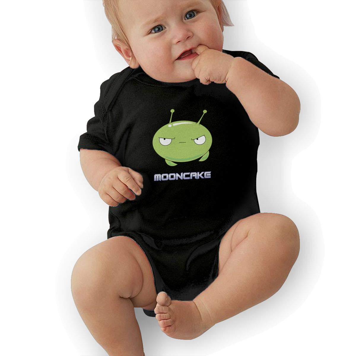 Caterpillar Mooncake Baby Romper 0-18 Months Newborn Baby Girls Boys Layette Rompers Black