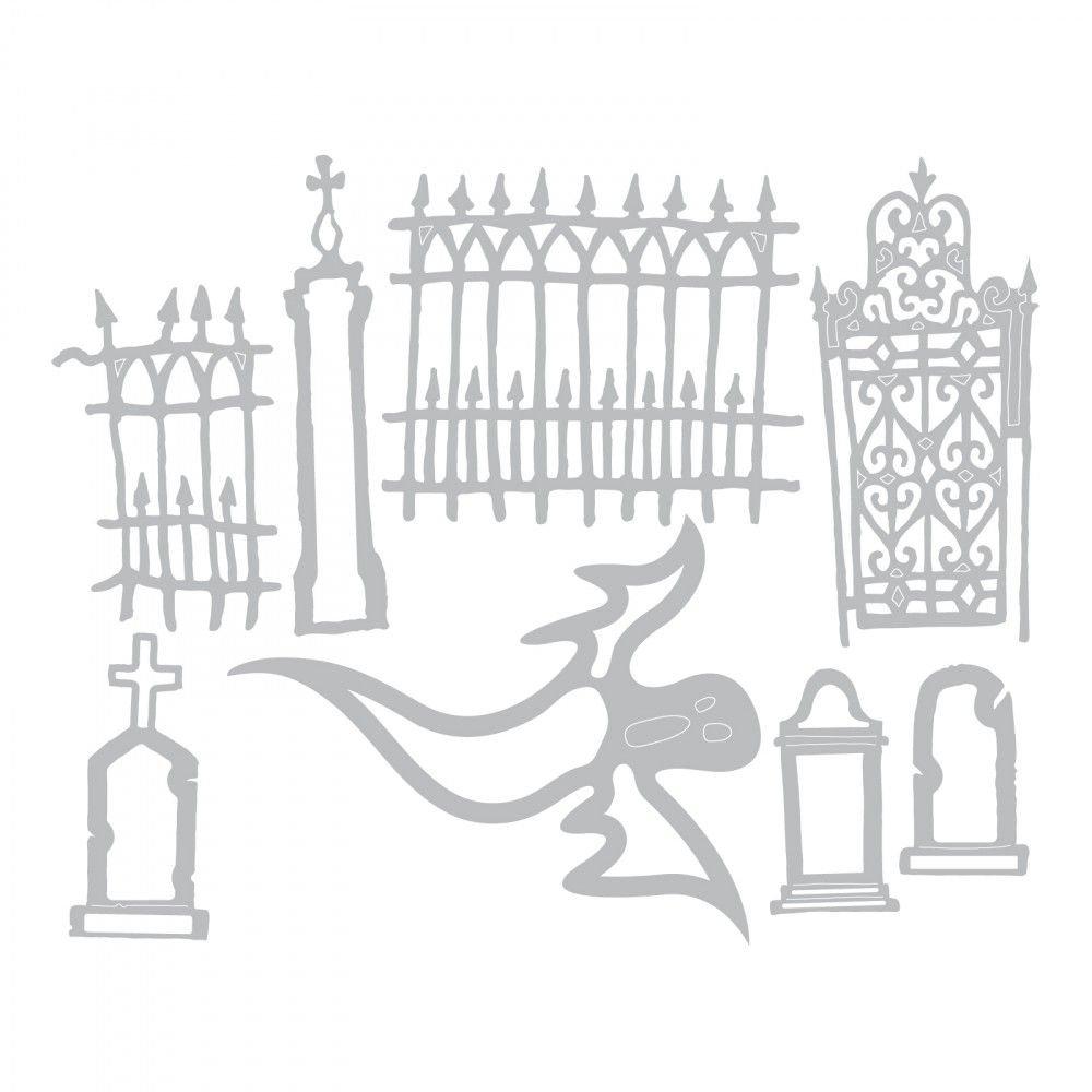 Sizzix THoltz Thinlits Die Village Graveyard