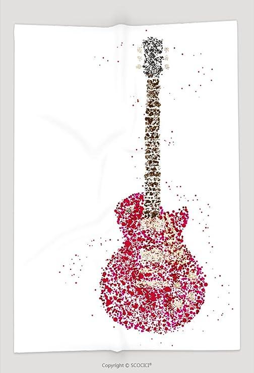 Manta de Custom de la música rock guitarra eléctrica fabricado con ...