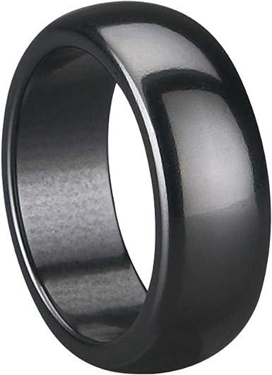 Black Ceramic Ring Size O 12 Woman/'s Wedding Ring Men/'s Black Ring