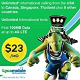 Lycamobile $23 plan preloaded sim card with 2 month service offers