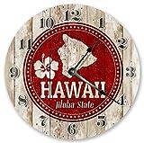 10.5'' HAWAII STATE ALOHA STAMP CLOCK - Large 10.5'' Wall Clock - Home Décor Clock2