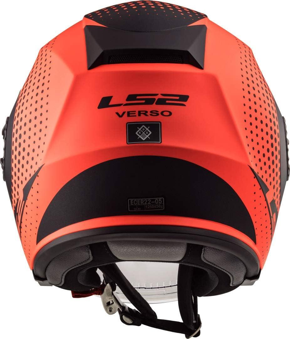 M Noir//Orange LS2 Casque moto OF570 VERSO SPIN MATT FLUO ORANGE