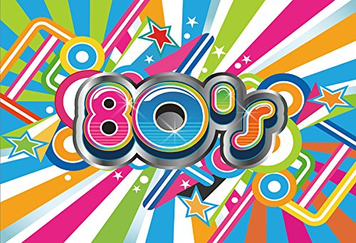 Yeele 10x6.5ft 80's Backdrop Colorful Hip Hop Style 80's Party Decorations Photography Background Adult 80's Backdrop for Photos Artistic Portrait Photo Booth Shooting Studio Props