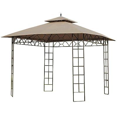 Garden Winds LCM1027B-RS Belvedere Gazebo RipLock 350 Replacement Canopy, Beige: Garden & Outdoor
