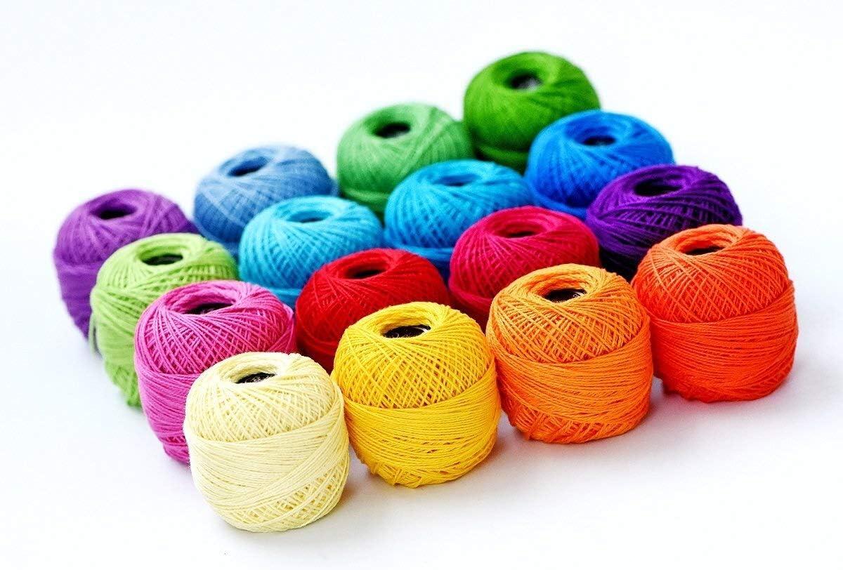 Crochet Las Bolas Del Hilado, Colores Suaves 10g De Tejer El Hilo ...