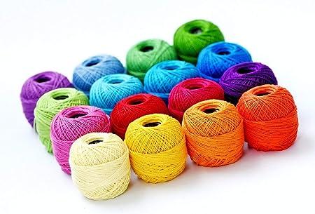 Crochet Las Bolas Del Hilado, Colores Suaves 10g De Tejer El Hilo De Algodón Hilos Del