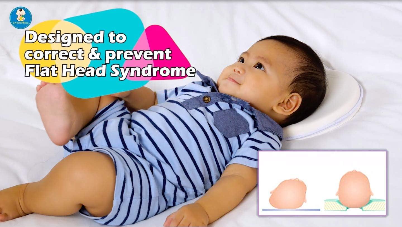 /éviter Les Plagioc/éphalie pour Enfants et Cadeaux/ /Baby Shower de Naissance du Registre B/éb/é Taie doreiller pour t/ête Plate Syndrome de pr/évention