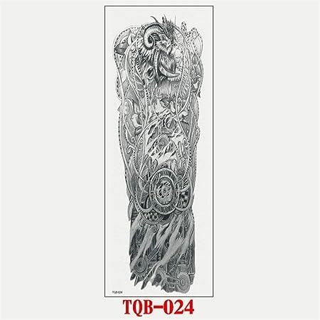 tzxdbh 2 Unids-Brazo Completo Tatuaje Pegatinas a Prueba de Agua ...