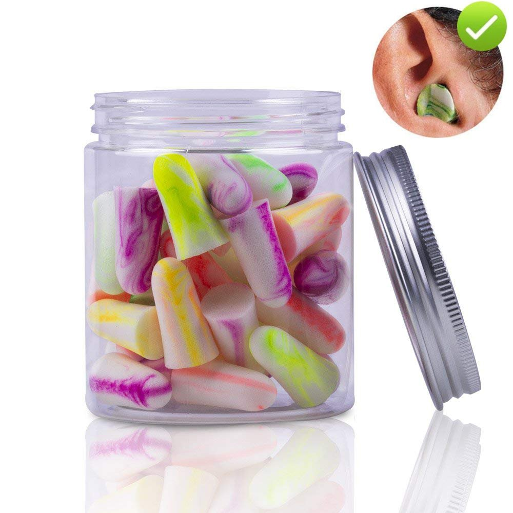[25 Pairs] Deliyee NRR 33 Soft Foam Ear Plugs, Best Noise Cancelling Earplugs for Sleeping and Block Out Snoring, with Mini Carrying Case