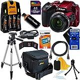 Nikon COOLPIX B500 Wi-Fi, NFC Digital Camera w/40x Zoom & HD Video (Red)