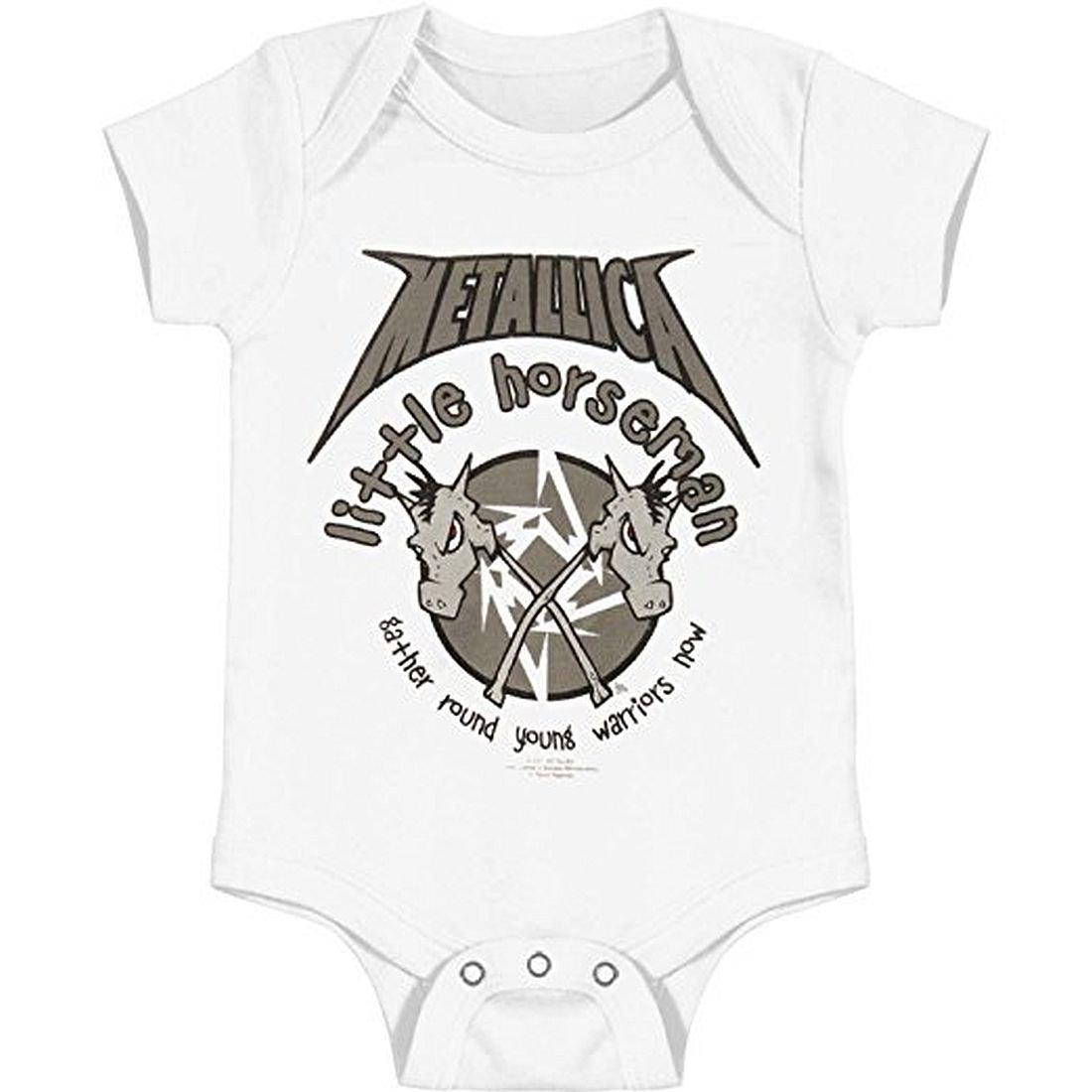 Metallica Little Horseman Infant Baby Romper T-Shirt: Amazon ...