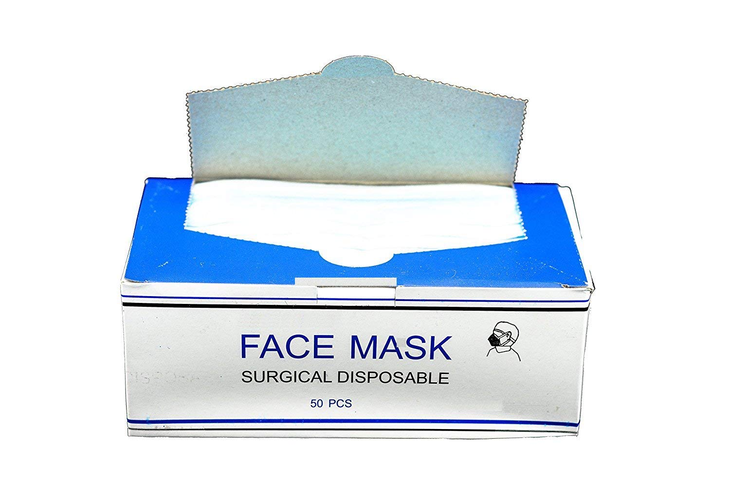 DISPOSABLE EAR LOOP FACE MASK MEDICAL, DENTAL MASKS (PFE Class I Flammability 80 mmHg Fluid Resistance to Blood) (4000)
