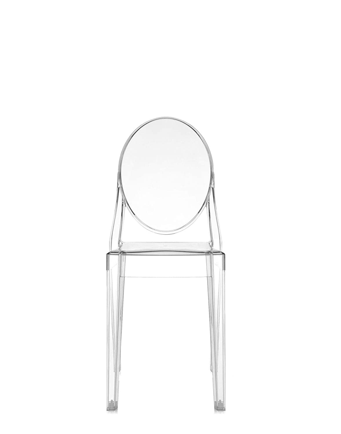 Amazon.com: Kartell Victoria Ghost Chair, Pack of 2, Crystal ...