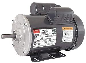 Dayton 1-1/2 HP General Purpose Motor, Capacitor-Start, 1725 Nameplate RPM, Voltage 115/208-230, Frame 56H - 1K066
