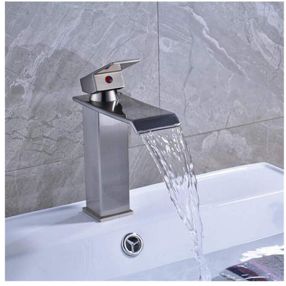 Kitchen Bath Basin Sink Bathroom Taps Washbasin Mixer Waterfall Basin Faucet Handle Single Lever Bathroom Sink Ctzl1690