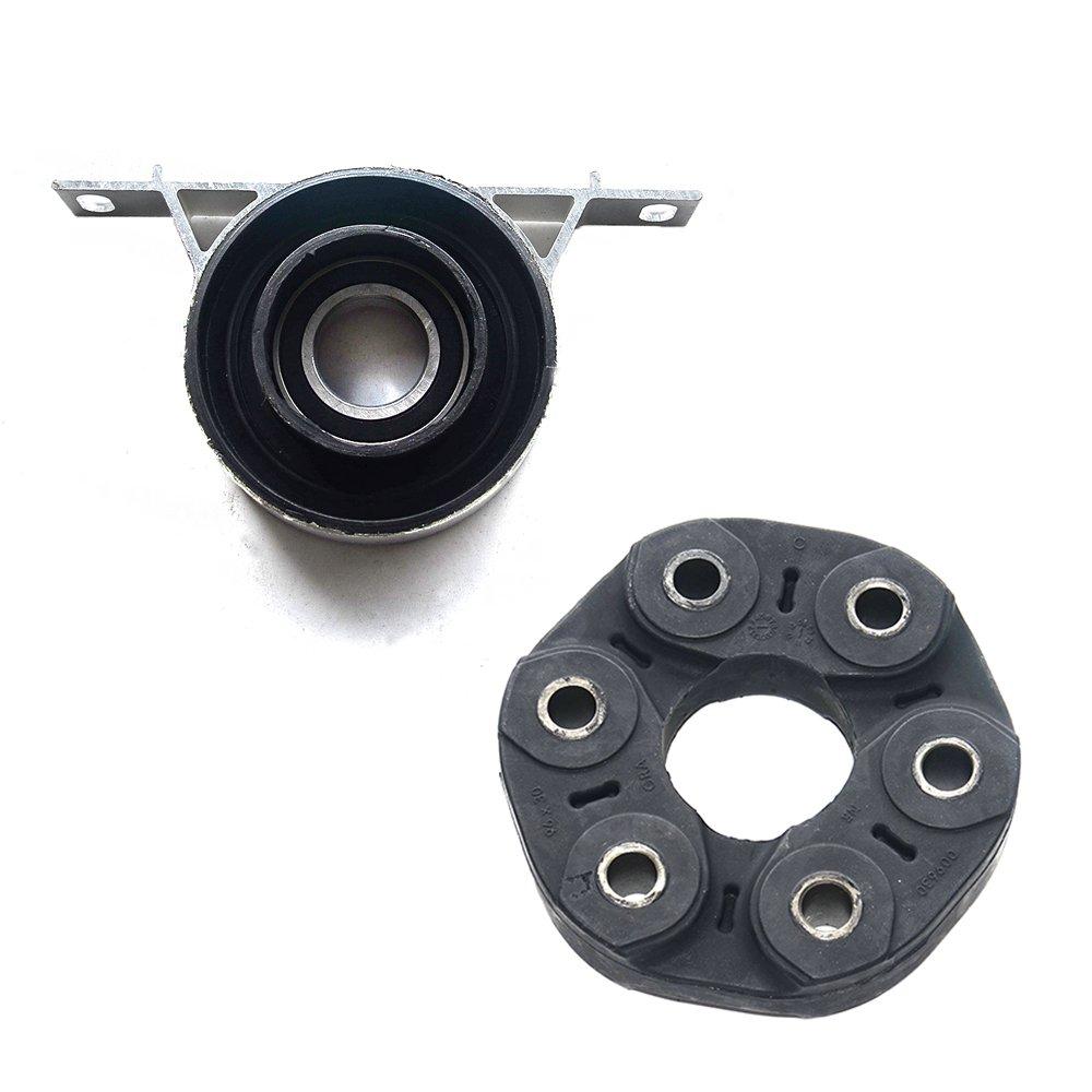Driveshaft Center Carrier Support with Bear Flex Disc Joint Set 26121229492 26127501257 26111209168 1220843 GELUOXI