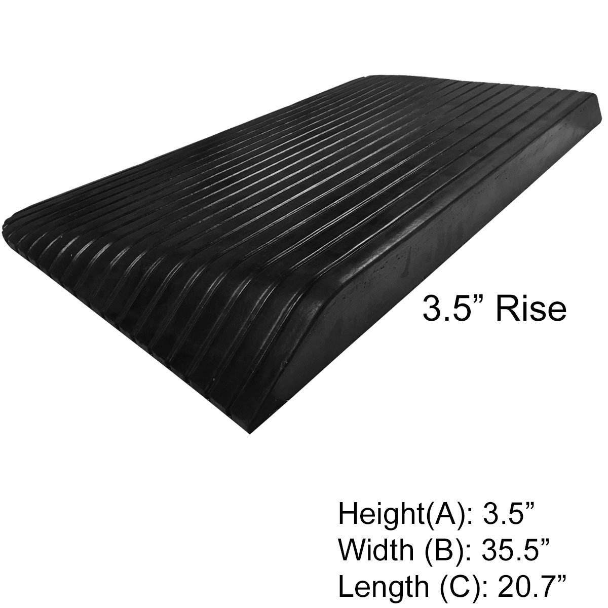 3.5'' Rise Rubber Power Wheelchair Scooter Threshold Ramp