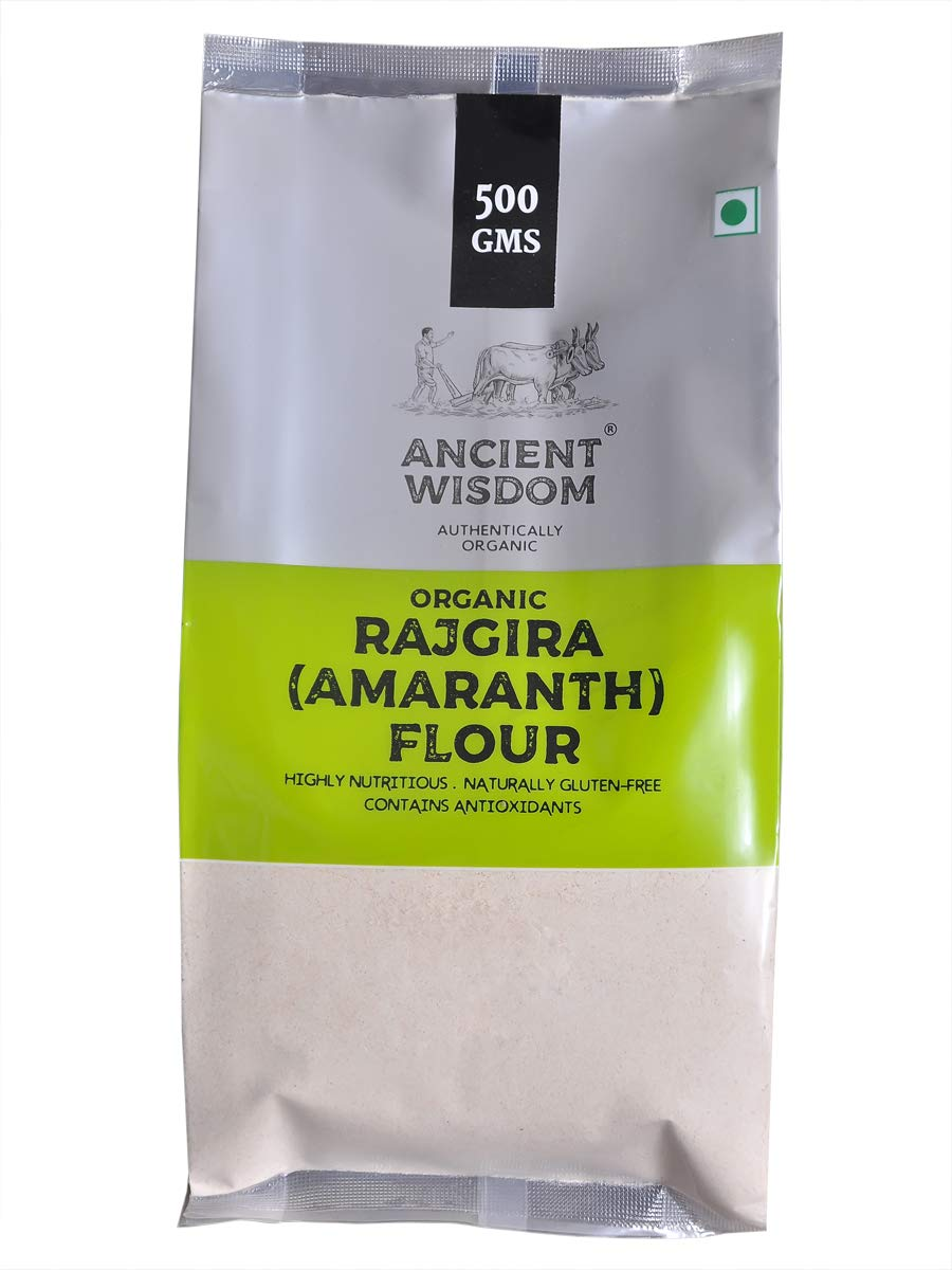 Harina de Rajgira orgánica (Amaranth) 500 GM (17,63 onzas)