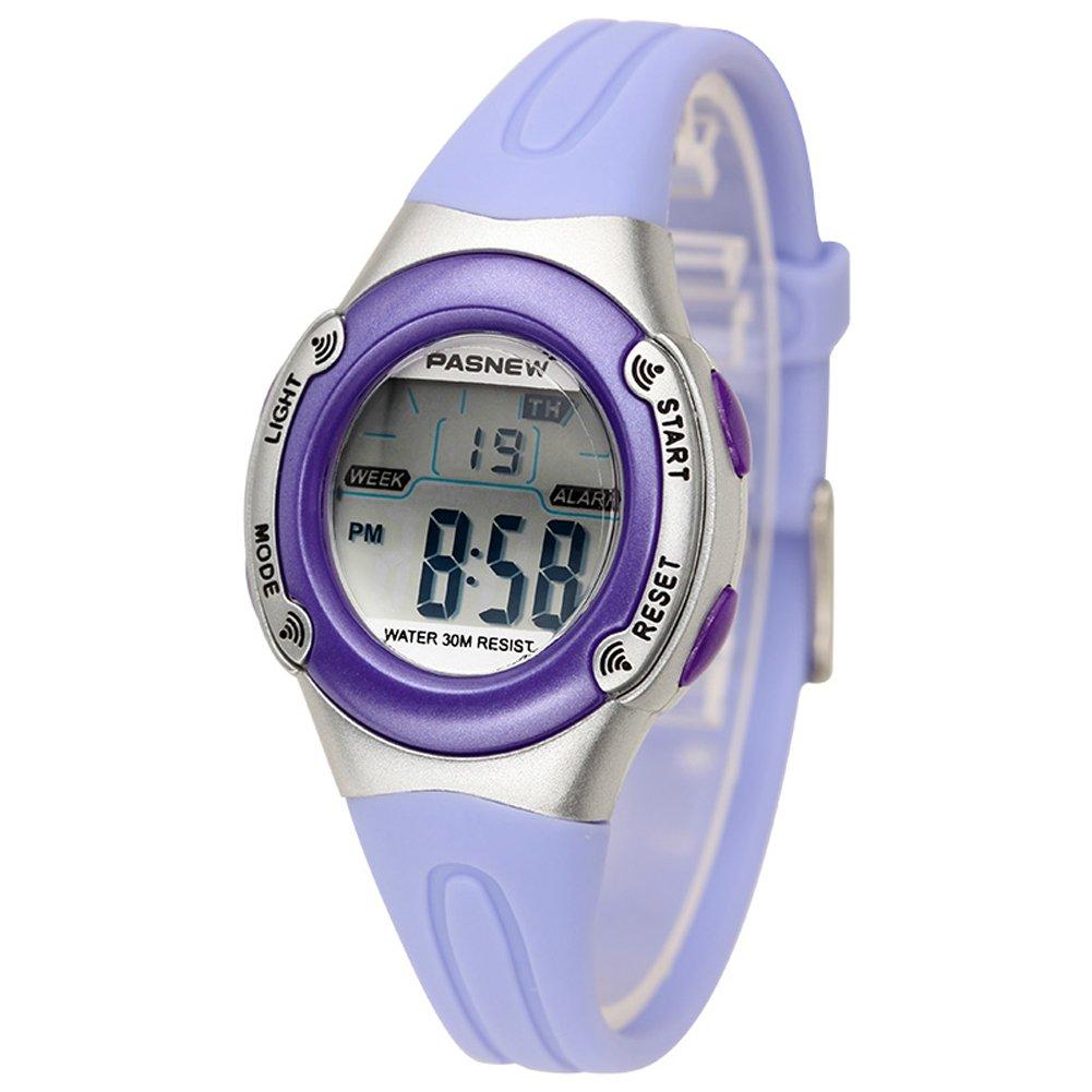 Digital Alarm Waterproof Quartz Kids Wrist Watch for girls