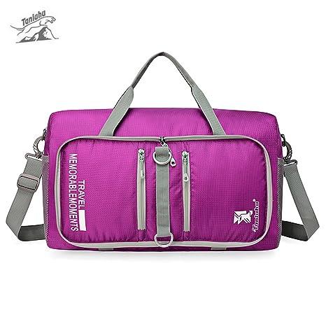 Folding travel bag men and women handbag fitness bag large-capacity short-distance  travel bag boarding bag travel bag duffel bag purple  Amazon.ca  Home   ... cc8a5b508e301