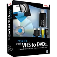 Roxio Easy VHS to DVD with Video Capture USB Device, Box Pack, 1 User