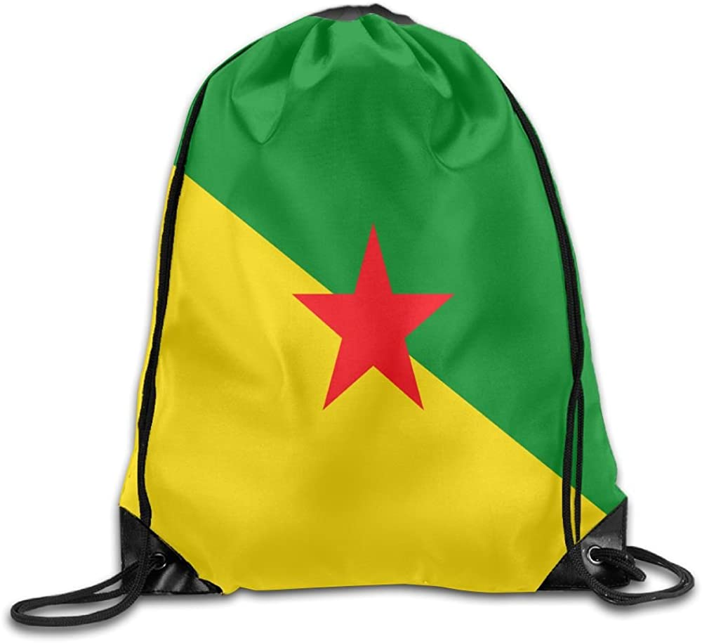 Flag Of French Guiana Funny Gym Drawstring Bags Travel Backpack Tote School Rucksack 61uOcPaz8uL
