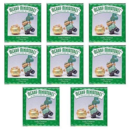 (Hallmark Merry Miniatures Lucky Cameron St Patrick's Day Figurine Set [8 Pack Bundle])