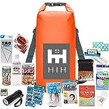 HIH 防災グッズ 防災セット 1人用 ハザードバック20 Regular 防水バッグに入った非常用持ち出し袋