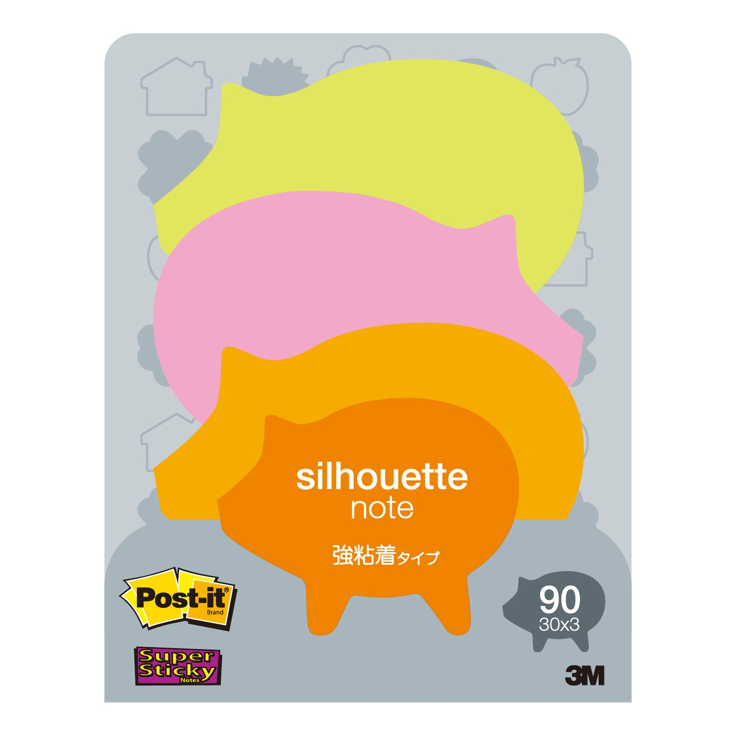 amazon com post it a little sticky notes silhouette 50mmx64mm 30