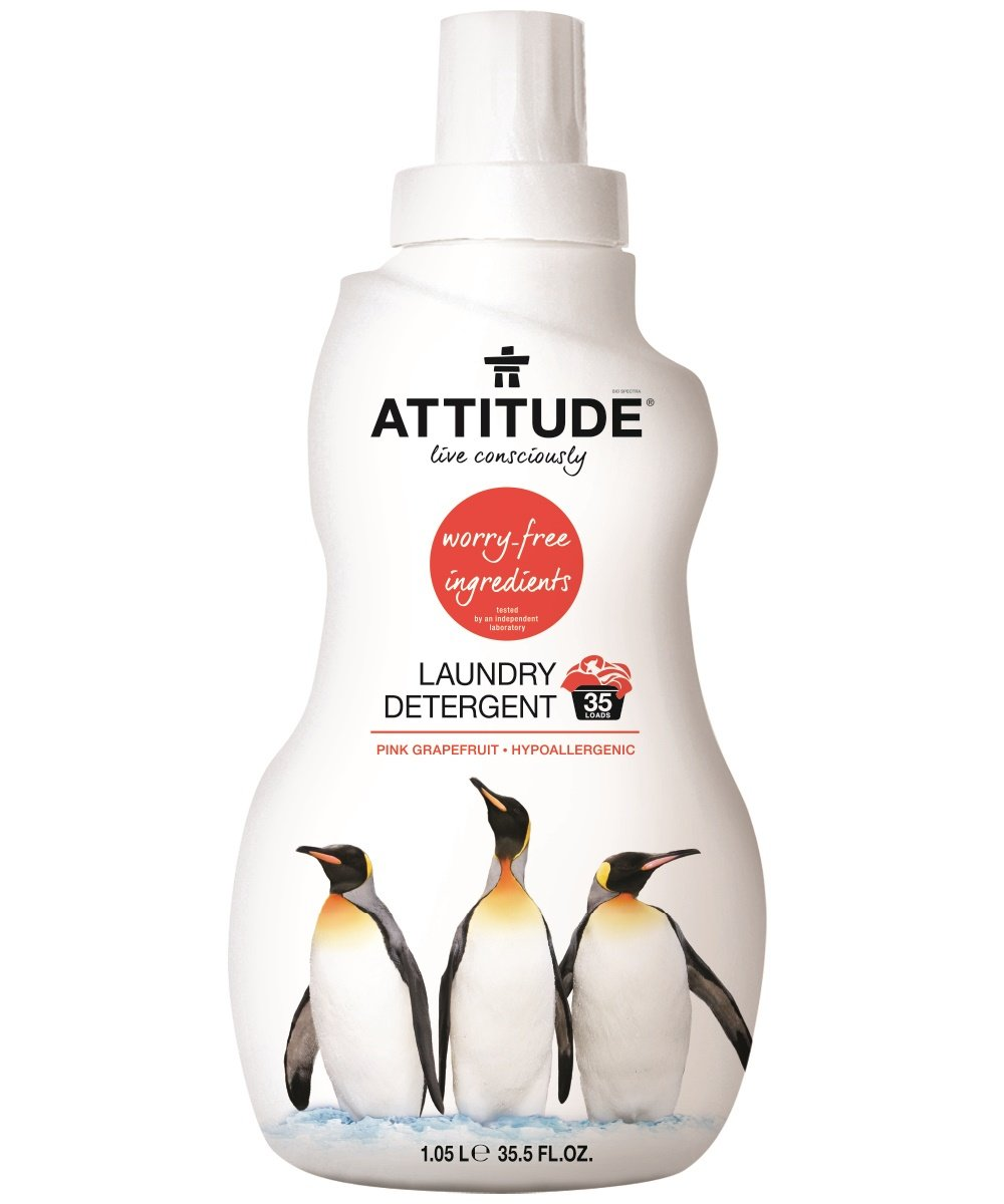 Attitude Laundry Detergent 3x Concentrated Pink Grapefruit, 35.5 Fluid Ounce
