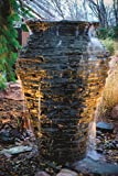 Aquascape Medium Stacked Slate Urn Water Fountain