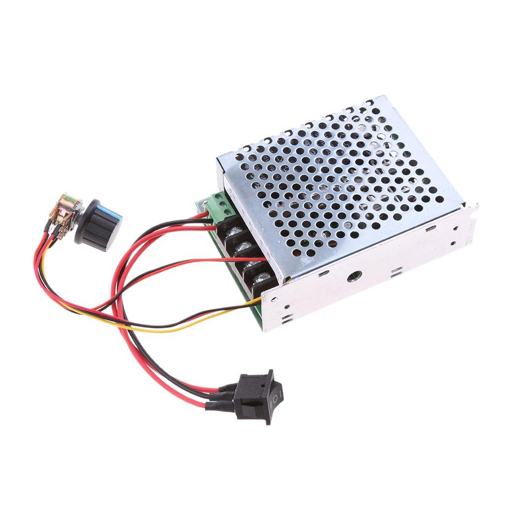 MonkeyJack PWM Switch DC 40Amp 10-50V Motor Speed Variable Regulator Controller Reversible Switch DC 12V 24V 36V 48V