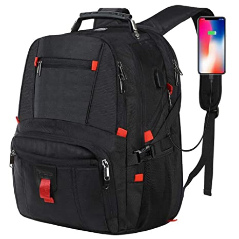 e6d427fe8132 Large Laptop Backpack, Travel Backpack for Women and Men, Computer Backpack  Business Bagpack for 17.3 Inch Notebook, Water Resistant Big College ...