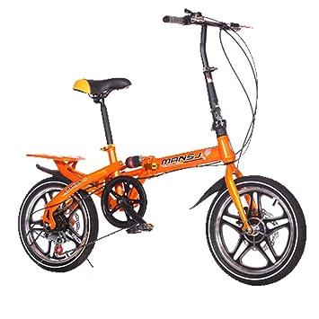 LETFF Bicicleta Plegable para Adultos 20 Pulgadas Niños Y Niñas De Absorción De Choque De Cambio