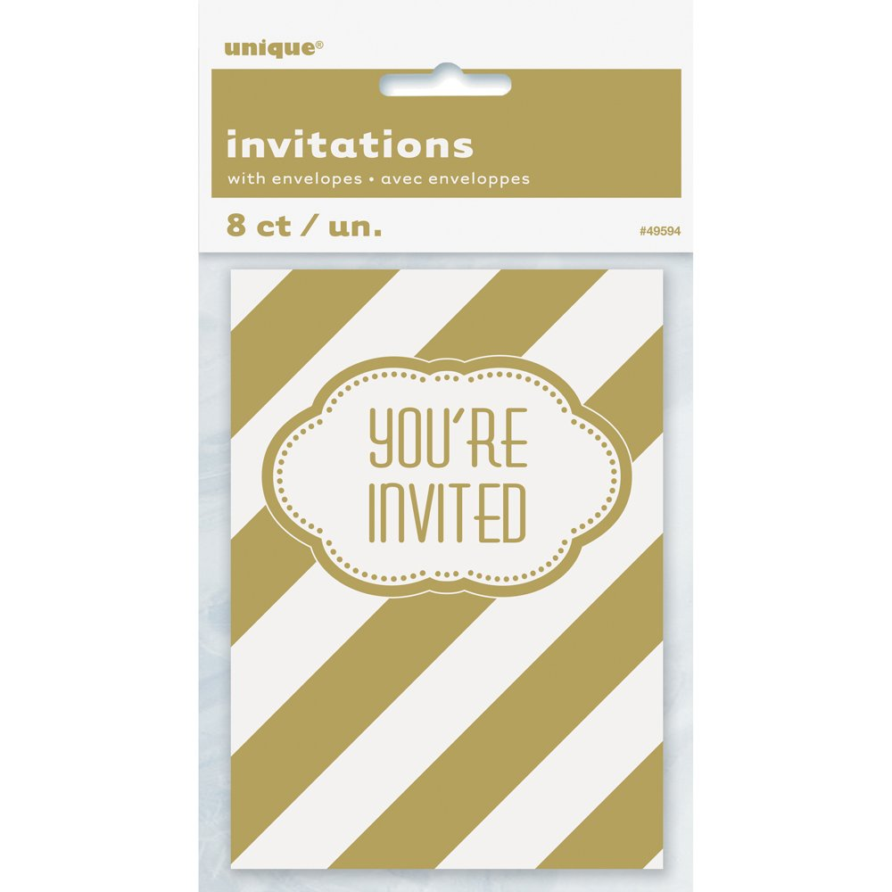 Amazon.com: Golden Birthday Party Invitations, 8ct: Kitchen & Dining
