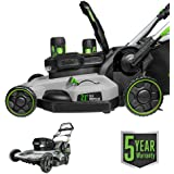 EGO Power+ LM2142SP 21-Inch 56-Volt Lithium-Ion Cordless Electric Dual-Port Walk Behind Self Propelled Lawn Mower with…