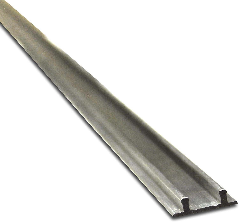 Set 2 Laufrollen ***Doppelschiene M/öbelschiene Laufschiene Bodenschiene*** 1 Doppelbodenschiene 1,93m Aluminium