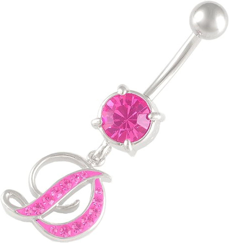 Ferido Gem Belly Button Barbell Navel Bar Ring Body Piercing Jewellery